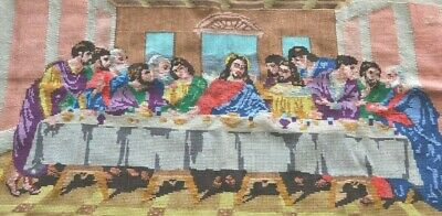 Big Completed Needlework Art The Last Supper 94x46cm Image Size Tapestry Canvas