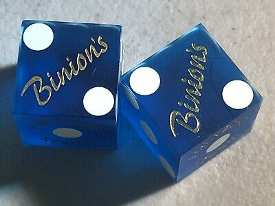 Binion's Hotel & Casino Cancelled Dice Non-Matching 0014/0022