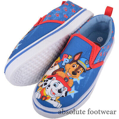 Boys Girls Official Paw Patrol Slip On Kids Canvas Pumps Trainers Shoes