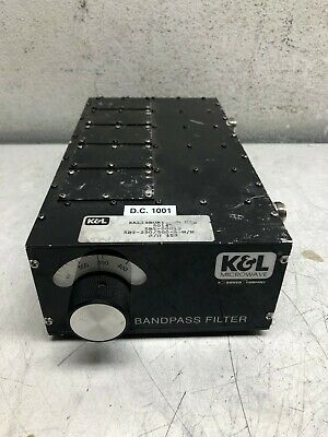 K&L Microwave Tunable Bandpass Filter 5Bt-250/500-5-N/N