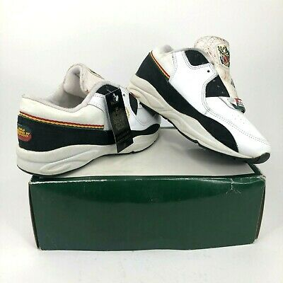 4468ff9b3b53 Vintage Paolo Gucci Mens 7 Leather Shoes 90s White Black Italy Flag Dead  Stock