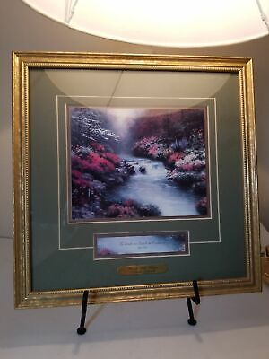 Thomas Kinkade Signed COA Beside Still Waters Framed Print Lithograph Psalm 23