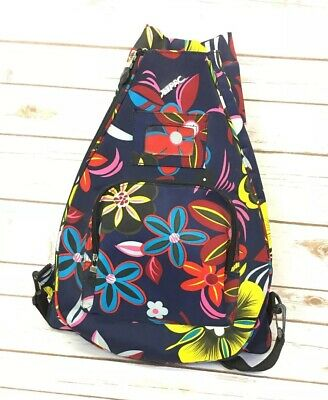 JETPAC Women's Floral Tennis Sling Backpack By LYNNE TAUCHEN Lots Of Pockets