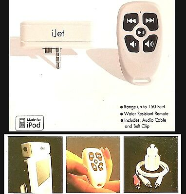 Ipod Wireless RF Remote Control Music ABT Plug and Play
