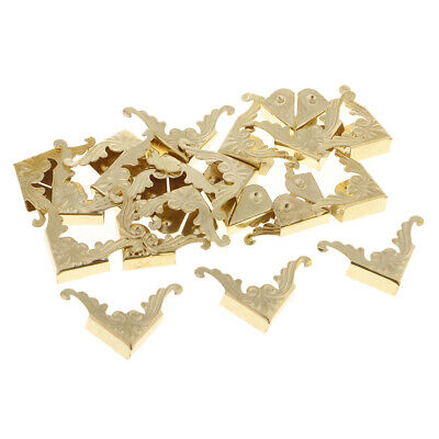 20pcs Desk Metal Corner Decorative Protectors Hardware Accessories Craft