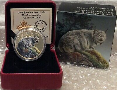 Lynx Commanding Canadian $20 2016 1OZ Pure Silver Proof Coin Canada
