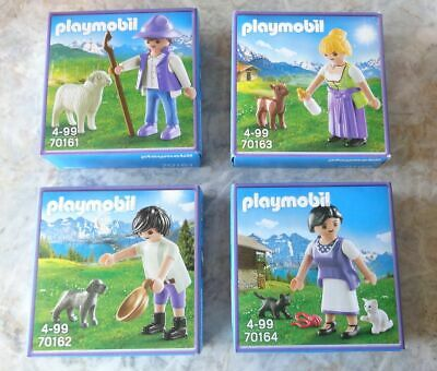 Komplettset MILKA Playmobil, 70161, 70162, 70163, 70164 Sonderedition, limitiert