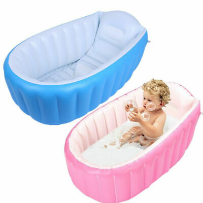 Baby Infant Inflatable Bath Tub Seat Shower Child Kid Toddler Portable Bathtub