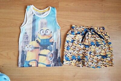 Minions Outfit T Shirt Shorts Age 2-3