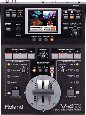 Roland 4 Channel Video Mixer V-4 EX Touch Control 10 inputs ,6 output