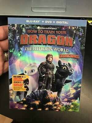 How To Train Your Dragon The Hidden World  Blu Ray Dvd + Slipcover  Brand New