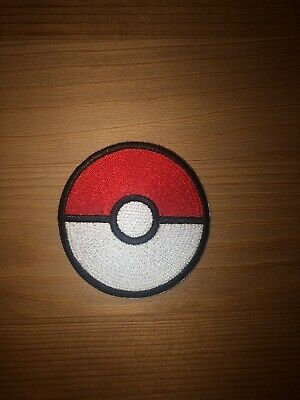 """Pokemon Red Pokeball embroidered iron on patch 2.3"""" Detective Pikachu"""