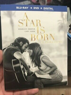 A Star Is Born Blu Ray + Dvd + Slipcover  Brand New