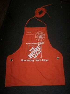 New Adult Home Depot Full Apron With Pockets New Never Worn Small/Medium