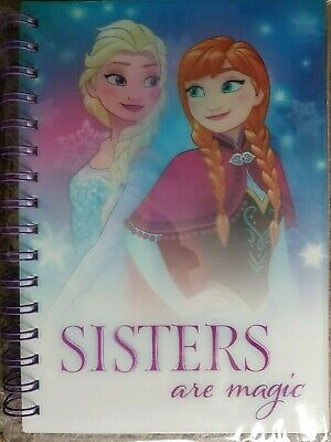 Bulk / Job lot 36 x Frozen A5 Size Notebook With Holographic Anna & Elsa Cover