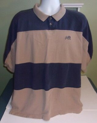 0d5e7061 Vintage Nike Air Polo Shirt 90s Brown Navy Spell Out Colorblock XXL 2XL