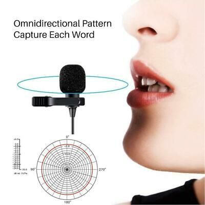 MC-M1 3.5mm Interface Clip On Lapel Microphone Hands Free Wired Lavalier Mic NEW