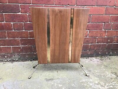 Mid Century Retro Fire Screen - Brass with Sputnick Feet - Unusual & Rare