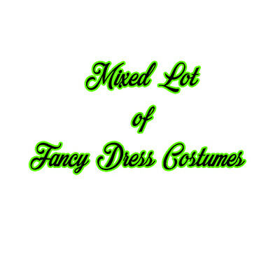 Fancy Dress Costumes Mixed Lot - Used