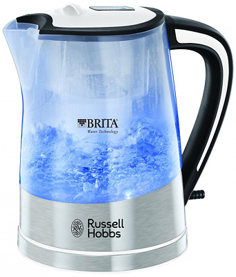 Russell Hobbs Plastic Brita Filter Purity Kettle 3000W 1L & Maxtra Water Filter