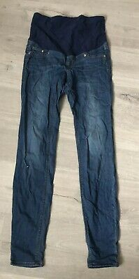 H&M Mama Super Skinny Blue Maternity Jeans Uk Size 10