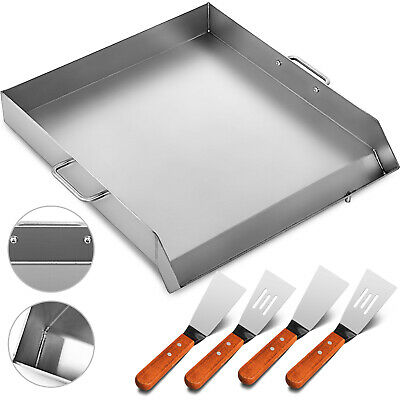 """32"""" x 17"""" Stainless Steel Griddle Flat Top Grill Griddle Kitchen BBQ Burner"""