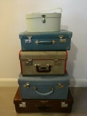 Vintage Collection Of  4 Suitcases And Beauty Case - Pick Up Geelong
