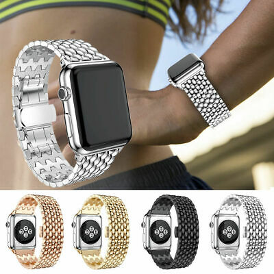 44mm Stainless Steel Bracelet Strap iWatch Band For Apple Watch Series 5 4 40mm