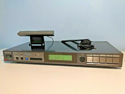 Vintage Sony FM Stereo Wide Band AM Tuner Model ST-JX220A Radio LCD display HIFI