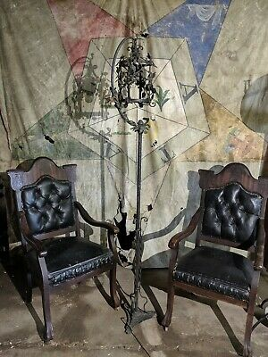 Elizabethan Style Wrought Iron Light Entryway Hallway Living Room Antique