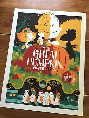 """It's The Great Pumpkin, Charlie Brown"" Artist-Tom Whalen Signed Print-$375 Obo!"