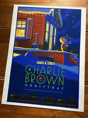 """A Charlie Brown Christmas""  Artist: Laurent Durieux Limited Edn Print!!  $220"