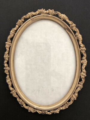 Vintage Late 19th /Early 20th Century  Oval Gilt Brass Frame