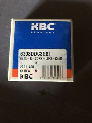 6201D KBC Brand Lot of 10 ea Sealed Bearings 12mm x 32mm x 10mm  6201 D