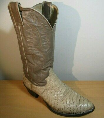 eef7595ad50 JUSTIN BROWN LEATHER Snake Skin Cowboy Western Boots Mens Size 8.5 D ...