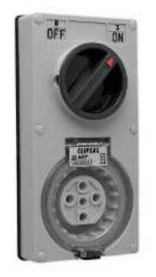 Clipsal 56-SERIES SWITCHED SOCKET 5-Pin Vertical,Less Enclosure GREY- 20A Or 32A