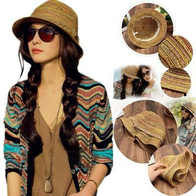 Fashionable Straw Hat Summer Beach Stylish Panama Fedora Women Men Ladies