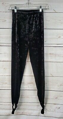 e15a0f13149c81 Forever 21 Black Velvet High Waist Leggings W/ Stirrups Womems S Small
