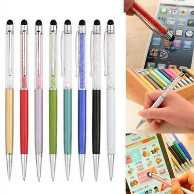 2 in 1 Crystal Writing Stylus Touch Screen Pen For IPhone IPad Tablet