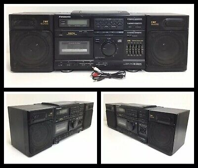 E007 Vintage PANASONIC RX-DS620 AM// FM// CD// CASS Boombox AC Power Cord 2 Prong
