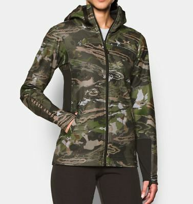 8ece5dc7adb5e NWT $120 Under Armour Women's Early Season Full Zip Forest Camo Hunting  Hoodie