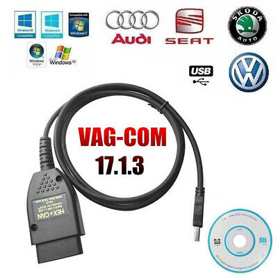 Auto Diagnostic USB Cable VCDS 17.1.3 HEX + CAN OBD2 OBDII VW/Audi/Seat/Skoda