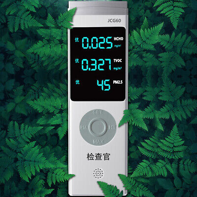 Digital Display USB Rechargeable PM1.0/PM2.5/PM10 TVOC HCHO Formaldehyde V8V3