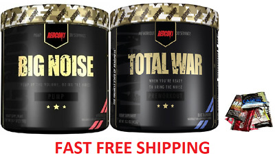 Redcon 1 Total War And Big Noise Stack Preworkout Pump Energy Concetration