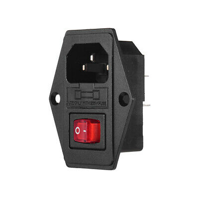 Creality 3D Inlet Module Plug Fuse Switch Male Power Socket 10A 250V 3Pin Y0X0