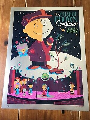 """A Charlie Brown Christmas"" Artist: Tom Whalen Rare Metal Edition! $625 Obo!!"