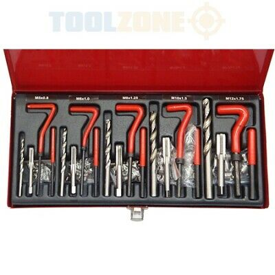 131Pc Helicoil Thread/Rethread Repair Kit/Set M5 M6 M8 M10 M12 Metric