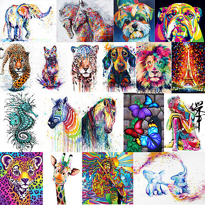 5D DIY Colorful Animal Diamond Painting Embroidery Cross Stitch Kit Mosaic Craft