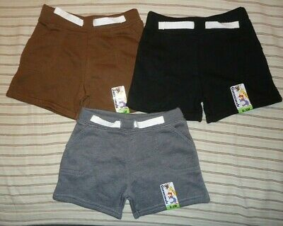 LOT of 3 Garanimals Baby Boys French Terry Shorts Bottoms Size 0-3 Months NWT