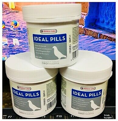 3x Ideal Pills Vitamin Chicken Pigeon Thai Herbs Supplement Strength 100 Tablets